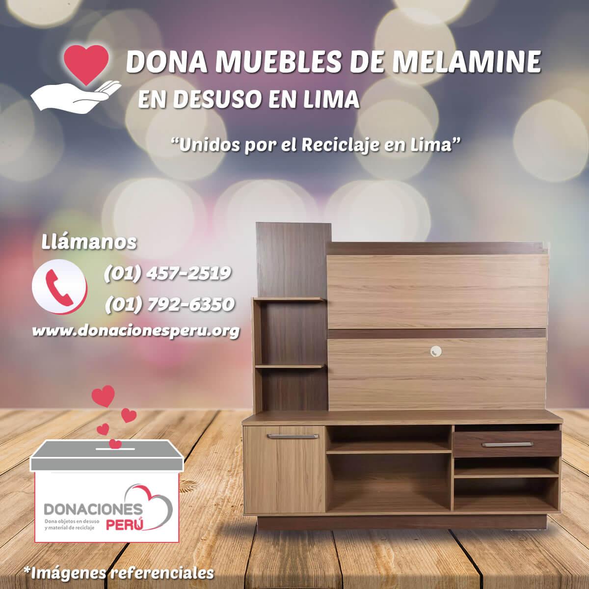 Donaciones Perú - Donaciones de Muebles de Melamine en Lima