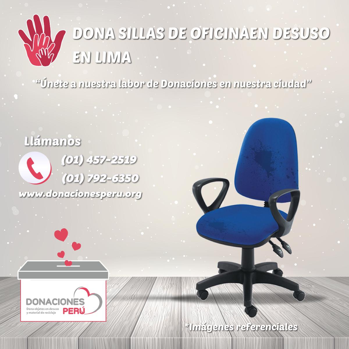 Donaciones Perú - Donaciones de Sillas en desuso en Lima